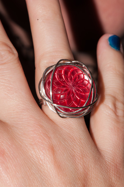 A cool ring that Kate received from a friend
