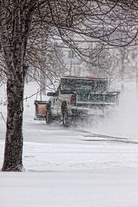"""What Road"" Friday Feb.26th,2010 The Nor-easter that is socking the east coast has reached all the way to northern Ohio. Stuck here for now and I thought I would show you the road in front of my house! 12 inches in my driveway!!"