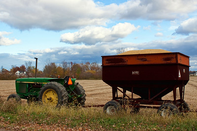 Sunday October 31st, 2010  Harvest time! I have been very busy with my upcoming move and need to get to my camera. This was right across the street from my house, so I took a minute from packing and grabbed my camera!