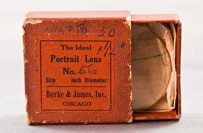 "Burke & James ""Ideal Portrait Lens"", basically an unmounted chuck of glass. Not sure what this thing is for."