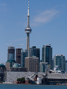 Of all the Torono Skyline shots I took this trip, I liked this one the best for how it tells the story of Torontos' Current Condo Craze, and, as in the previous shot, that juxtaposition of industry and white collar, residential and business.