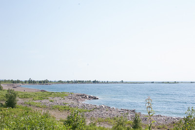 This is a southern most spur of Leslie Spit -- the Spit is quite long, and is an outer spur of land that shelters the Toronto Dock Lands from the direct brunt of the open Lake.  It's about 10 km long, so a bit of a walk, but a very easy ride.