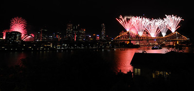 Brisbane's River Fireworks - 3 September 2011