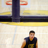Nick Martinez shoots free throws during boys basketball practice at Santa Fe High School on Nov. 23, 2009.          Luis Sanchez Saturno/ The New Mexican