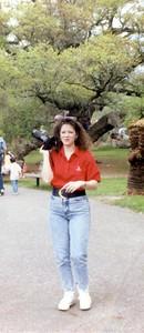 Lynn at the Zoo, July 1990.
