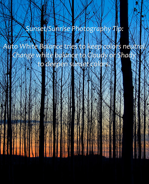 Sunset/Sunrise photography tip