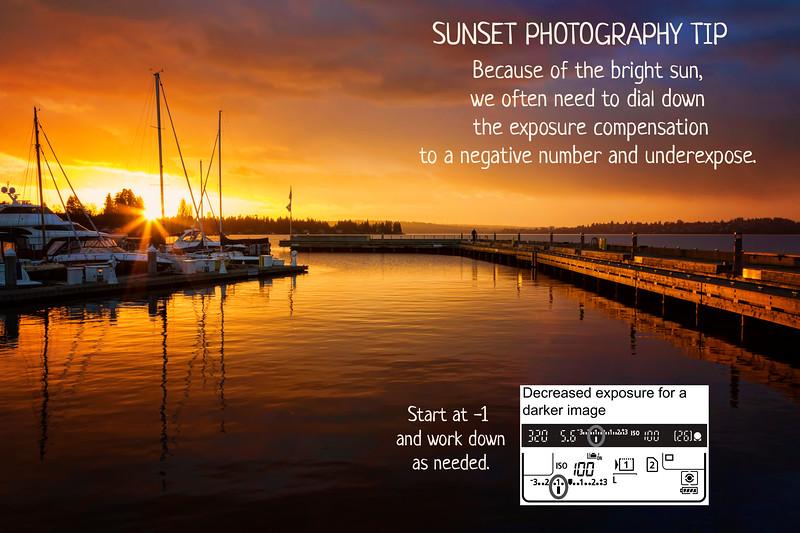 Beginner sunset/sunrise photography tip