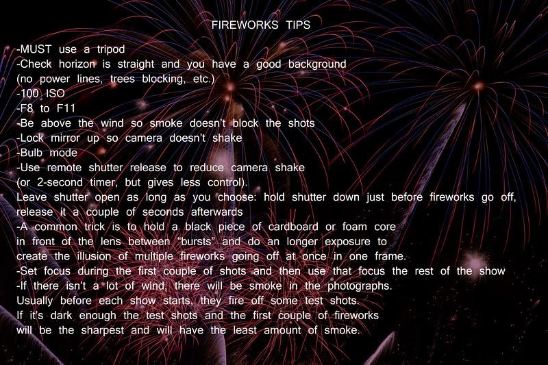 Fireworks Tips
