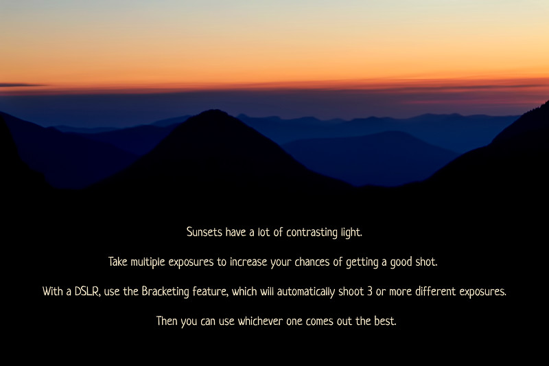 Sunset/Sunrise Photography Tip #2