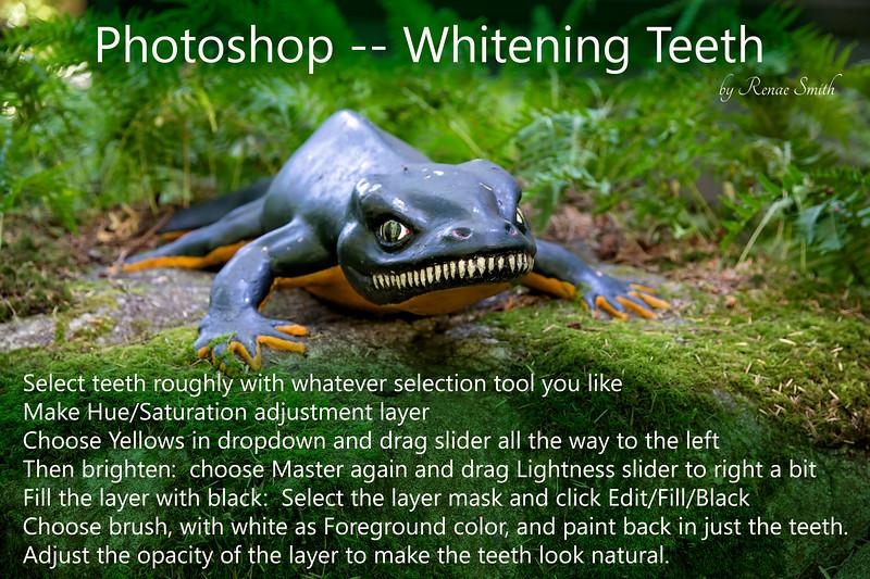 Photoshop -- Whitening teeth