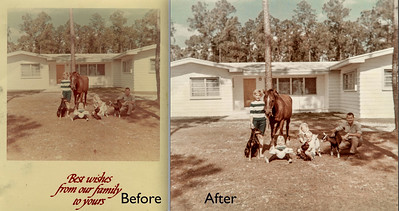 From an old faded greeting card to a treasured keepsake.  Photo restoration by Candace West #FtLauderdalePhotoRestoration #PhotoRestoration #PhotoRepair #OldPhotoRestoration #BeforeAndAfter #retouch #retoucher #SouthFloridaPhotoRestoration #OldPhotos #FamilyTree #VintagePhotos #SaveOldPhotos #CandaceWestPhotoRestoration #SavingYesterday