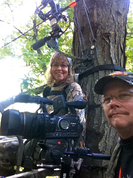 Trying to video Ernie's deer hunt. (2010)