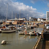 Bridlington Harbour under a threatening sky, Octover 2009