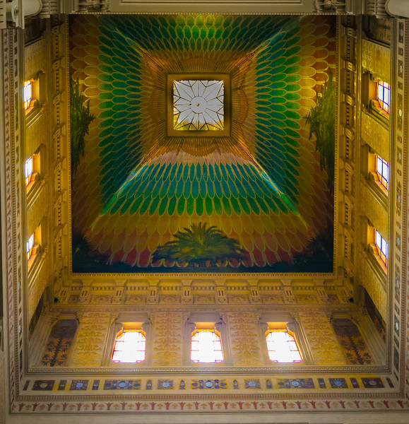 Rome Synagogue Ceiling