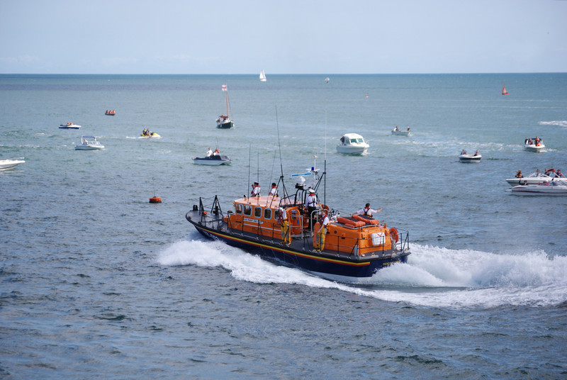 Throughout the display the boat was handled with consummate skill by the coxswain