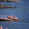 Things get started as the inshore lifeboat is launched