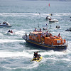 Just look at the wake of the big lifeboat, it seems able to turn in little over it's own length, even at high speed.