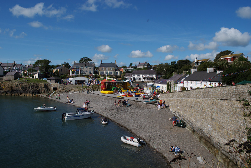 Molfre on the morning of 22 August 2009 before the lifeboat day festivities start