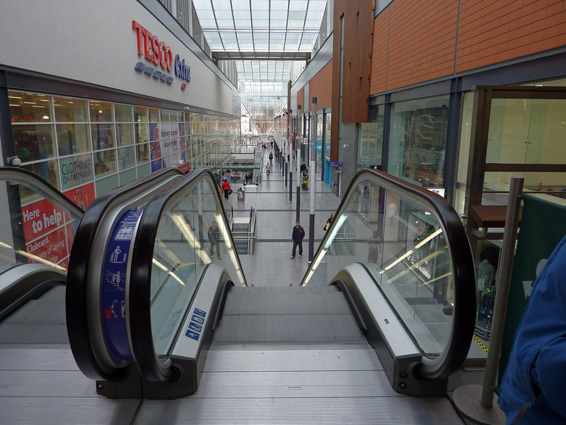 25mm wide view inside St Stephens Mall, Hull