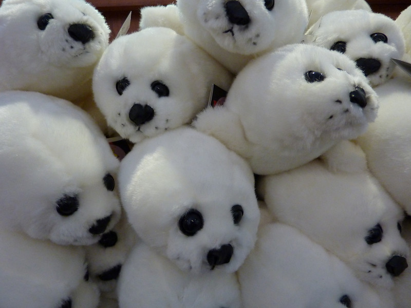 """Fluffy seal pup toys in """"The Deepstore"""""""