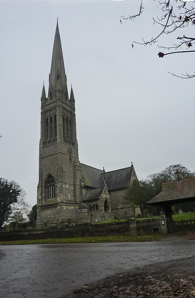 South Dalton Church from across the road, the 25mm lens allows me to get it all in!<br /> Note the clock on the Church Tower