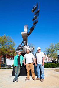 The team that desogned and assembled the Duke Ellington Sculpture in Shaw.