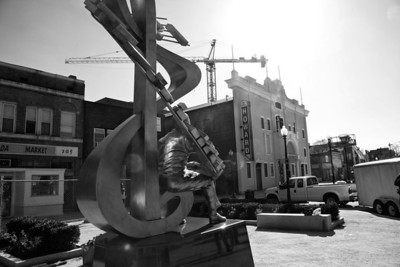 Duke Ellington Sculpture facing the Howard Theatre