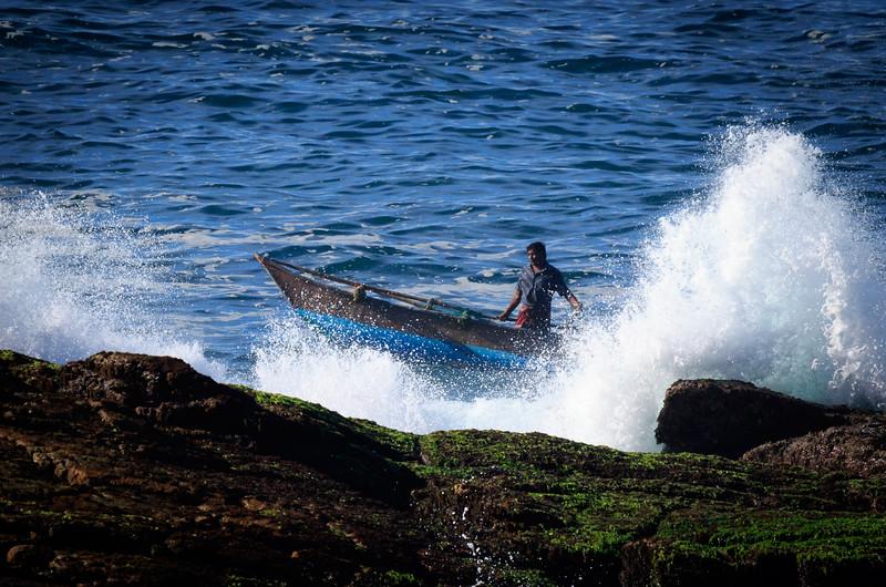 Boatman at Amanwella