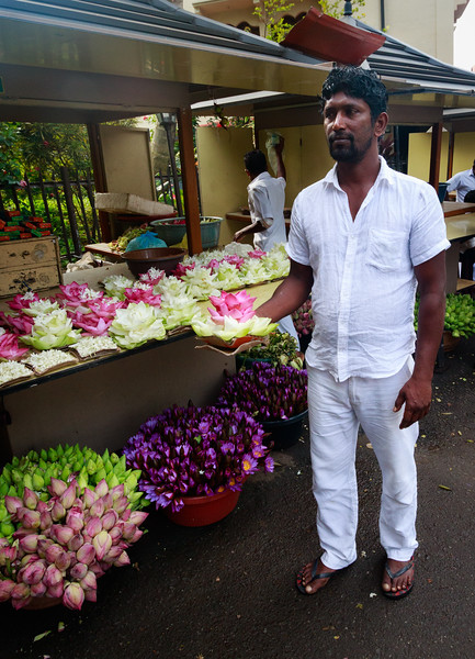 Flowerman at Temple of the Tooth