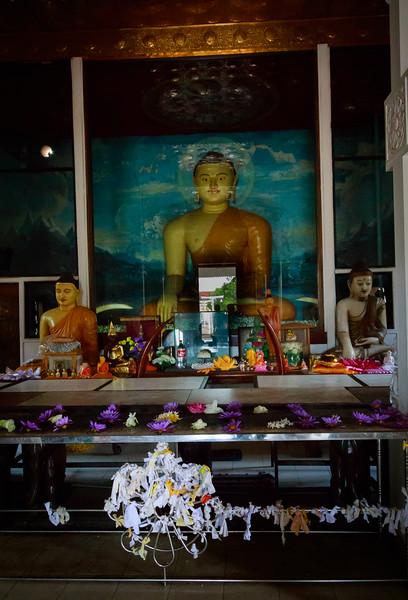 Buddha at Sri Maha Bodi site (Sacred Bo-Tree)