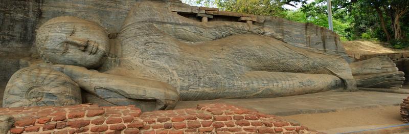 Large Stone carved Reclining Buddha