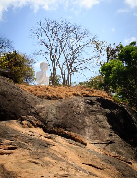 Buddha near Ruwanweliseya Dagoba site