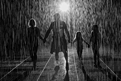 Walking in the rain with the one they love!