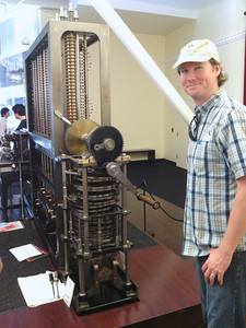 Driving crank of Babbage Difference Engine