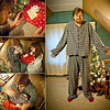 Day 72: Bethany bequeaths Dustin with handmade Christmas jammies! Dustin is proud of his new special clothes, so intertwined with love.