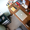 Day 2: Hark! Dustin has organized his desk. Nary a day shall come when it be so tidy again.