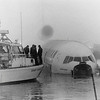 Scandinavian Airliner that slid off the runway at John F. Kennedy Airport, New York, c. 1986.  No lives lost