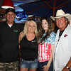 Alison Mistokke poses with Underground Customs' Chris White, and Jack A's Jackie and Roger Saylors.<br /> pci by Kim Teems