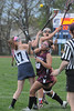 Pottsgrove #10, Pottstowns #17 and 25 fight for ball in first half action. Photo by John Strickler/The Mercury