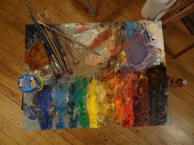 Paint Pallet in process
