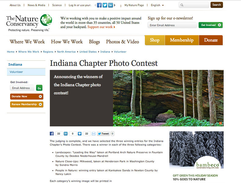 Contest for 2013 - Indiana Nature Conservancy