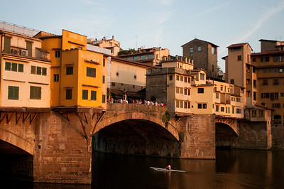 Ponte Vecchio at Sunset.  Florence, Italy