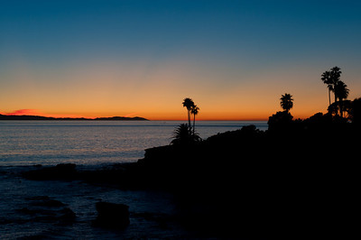 Laguna Beach, California With Catalina Island in the distance.