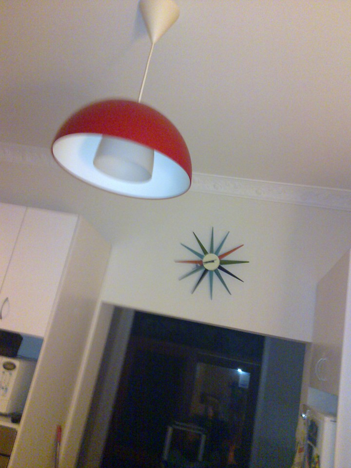 Our new light fittings and clock