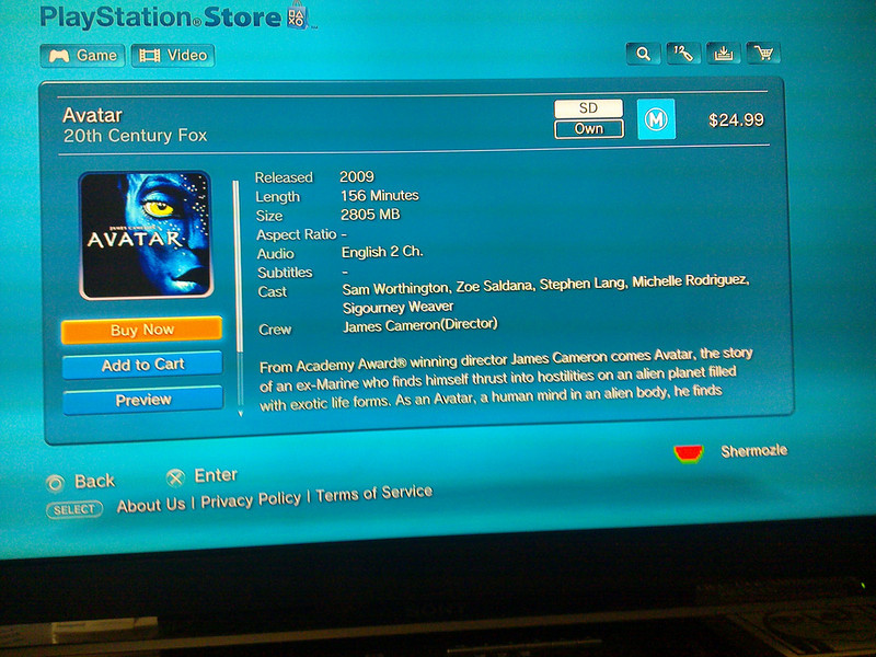 Sony's PS3 movie store