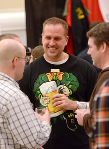 Ed Burke - The Saratogian02/22/14 Steve Ayotte from Rhode Island talks with friends during Saturday's Saratoga Beer Summit at the city center.