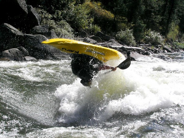 Photo Will Parham. Paddler: Mike Leeds    Airtime Hole, N.F. Payette River