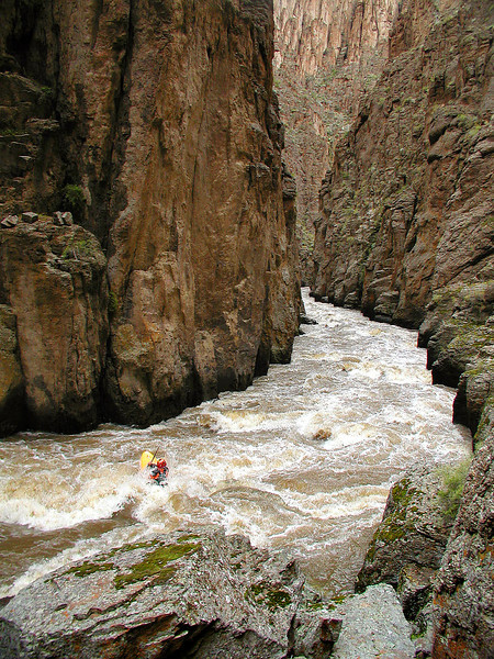 Paddler Mike Leeds. Photo: Grant Amaral. Blind Date Rapid, Sheep Creek, Idaho.