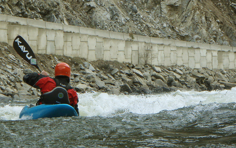 Paddler Mike Leeds entering Juicer Rapid on the North Fork Payette River in Idaho. Photo taken by Preston Woods.