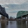 Missouri River Bridges - Painted Carved Wood efffect